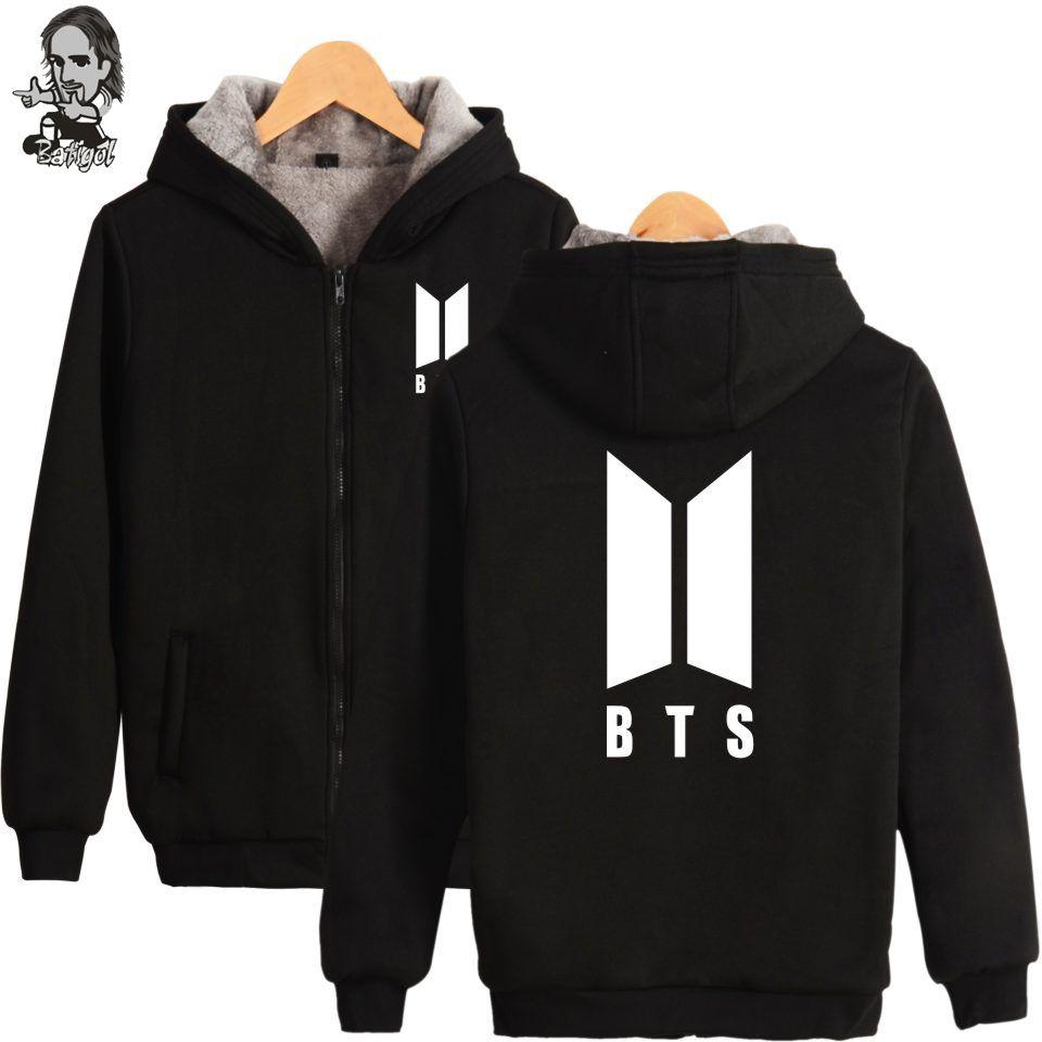 Click to Buy << BATIGOL 2017 BTS TEAM kpop zipper Men Jacket