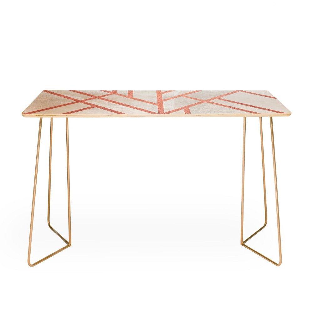 Elisabeth fredriksson art deco pink and black desk deny designs