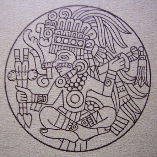 aztec god Zentangle Art Patterns Aztec art Mayan