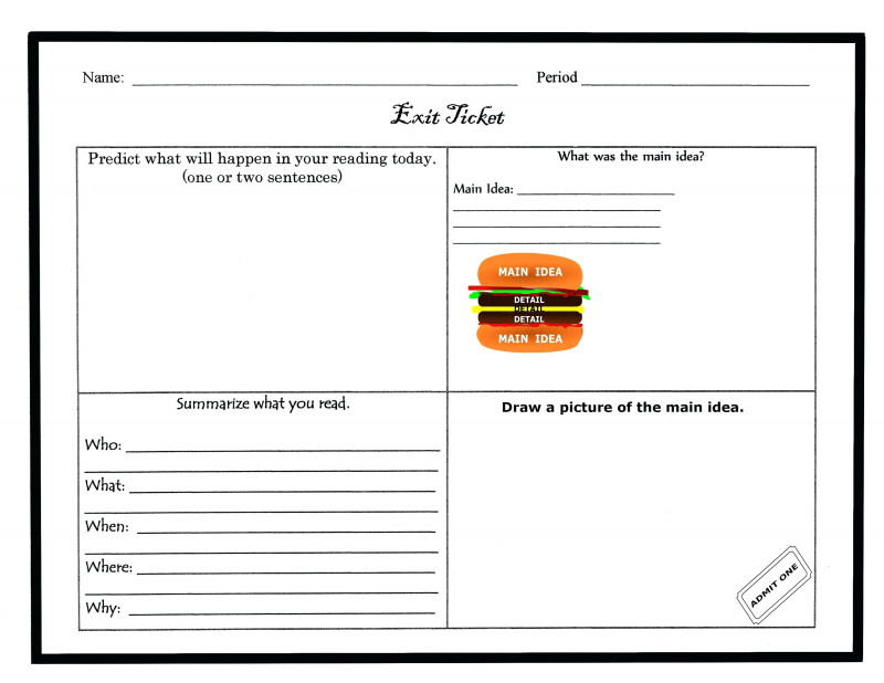 Blank Parking Ticket Template New Free Exit Ticket