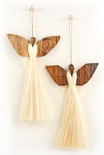 Amazing sisal angel Christmas tree ornament.