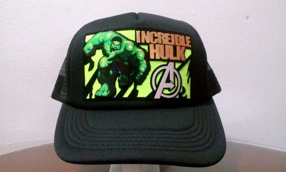 101f31f4f14 Incredible Hulk Trucker Hat Mesh Snapback Adjustable Cap Avengers Movie  Logo New  Unbranded  Trucker