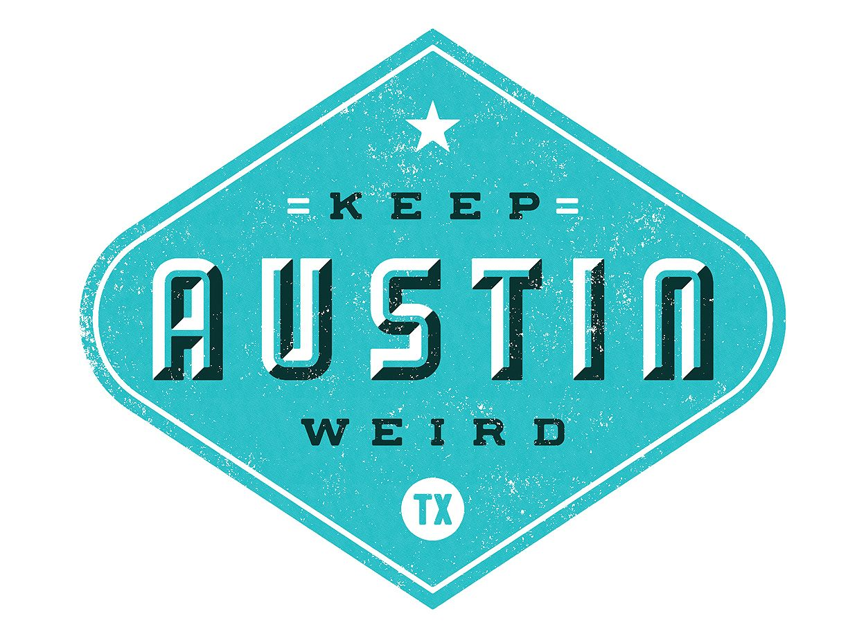 Keep Austin Weird Project Based Learning Lettering Logo Design