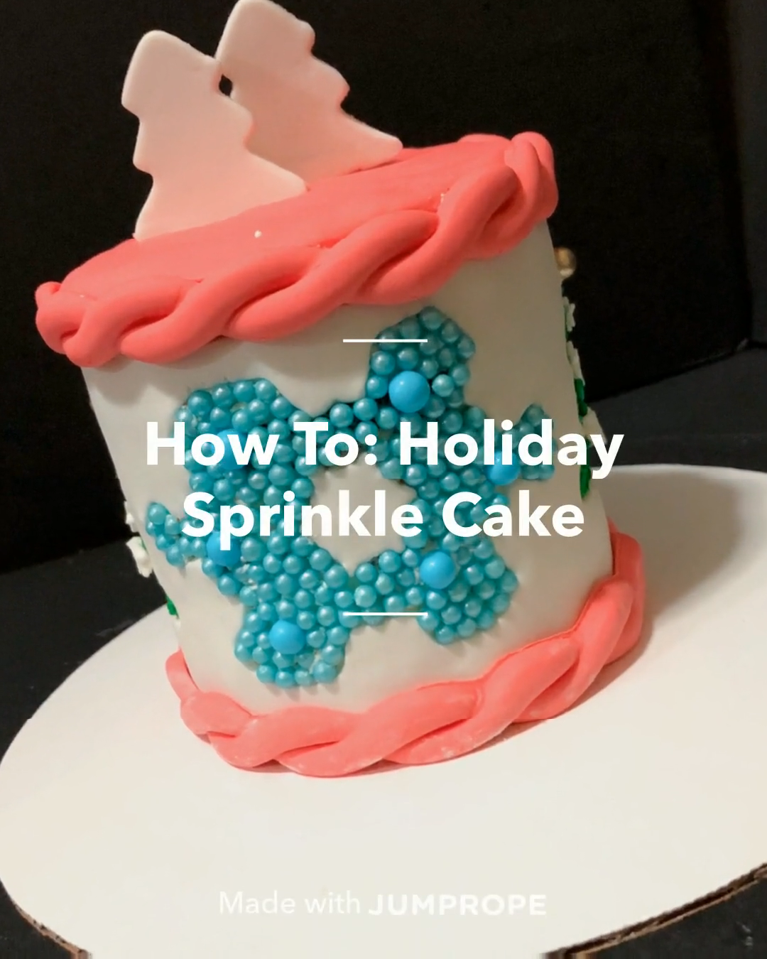 #jumpropecreators #madeonjumprope #jumpropeapp #jumprope #cake #cakedecoratingtechniques #quickbread #sprinkles #desserts #holiday #christmas #christmasvacation #christmasparty #diychristmas #chrismtastreats #christmasrecipes #christmassnacks