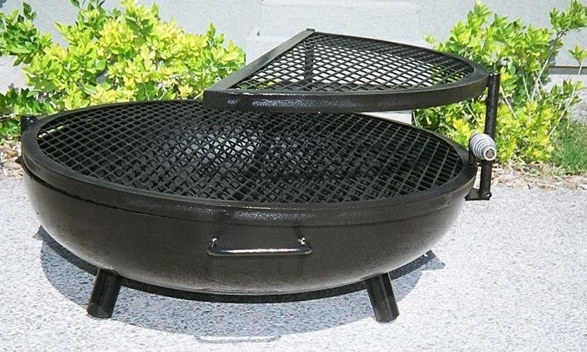 Google Image Result For Http Www Bbquepits Com Images Fire Pits Alfa Fire Pit Half Grill 30 Fire Pit Low Cerrado Outdoor Fire Pit Portable Fire Pits Fire Pit