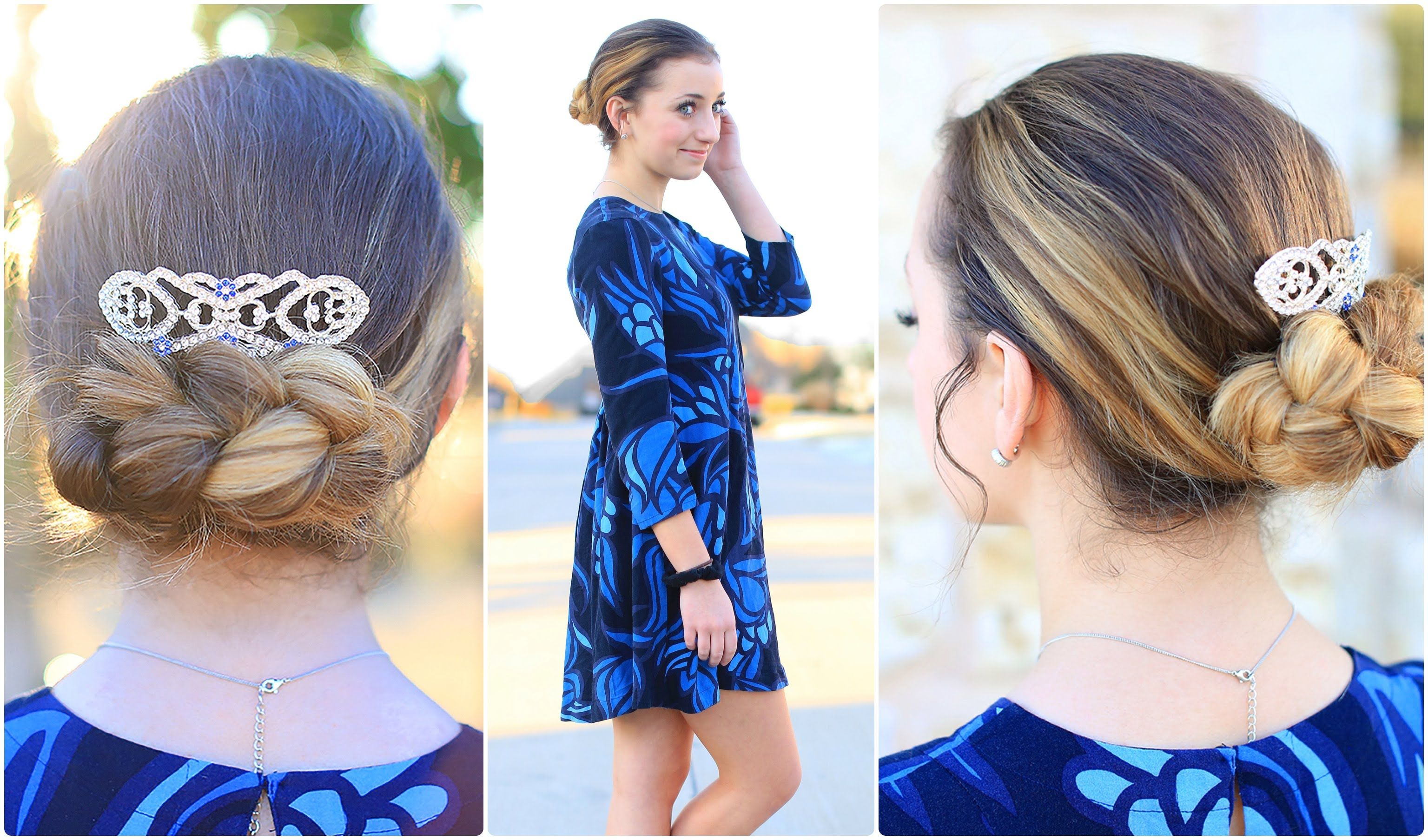 easy flipped braid updo | prom hairstyles | cute girls hairstyles