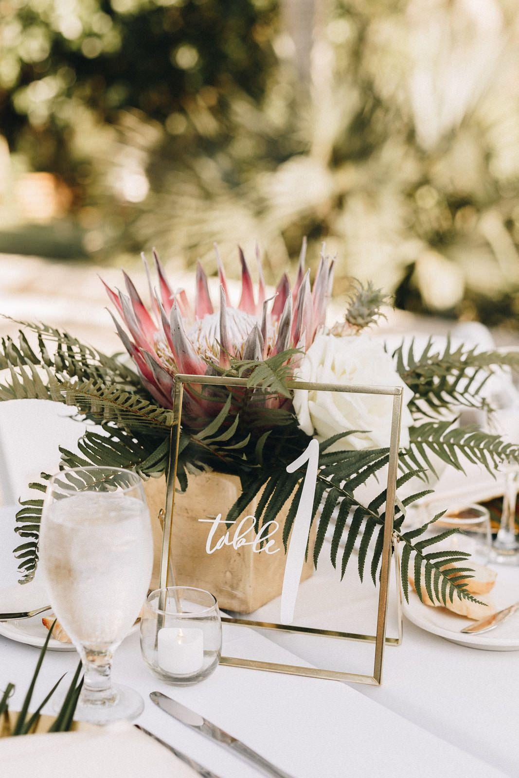 Tropical Wedding At Sydonie Mansion Orange Blossom Bride Tropical Wedding Centerpieces Tropical Wedding Theme Tropical Wedding Decor