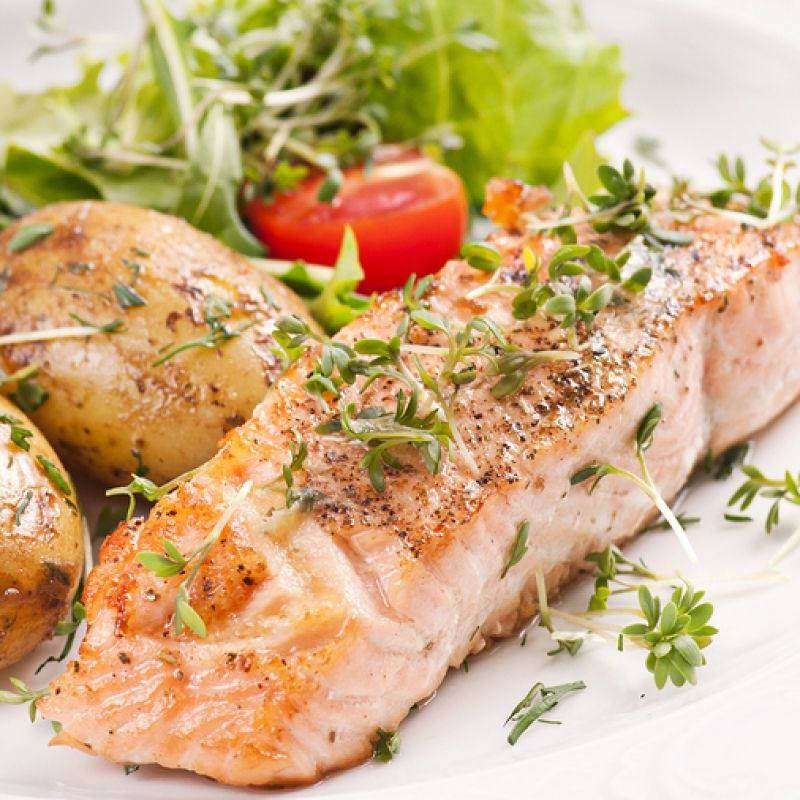 Healthy Baked Salmon Fillets, Delicious Served With