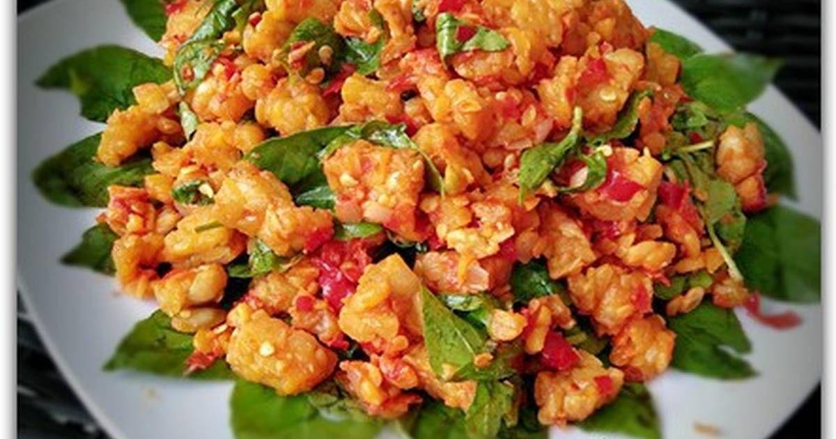 Resep Sambel Tempe Kemangi Maknyos Oleh Dapurvy Resep Resep Makanan Asia Resep Masakan Makan Malam
