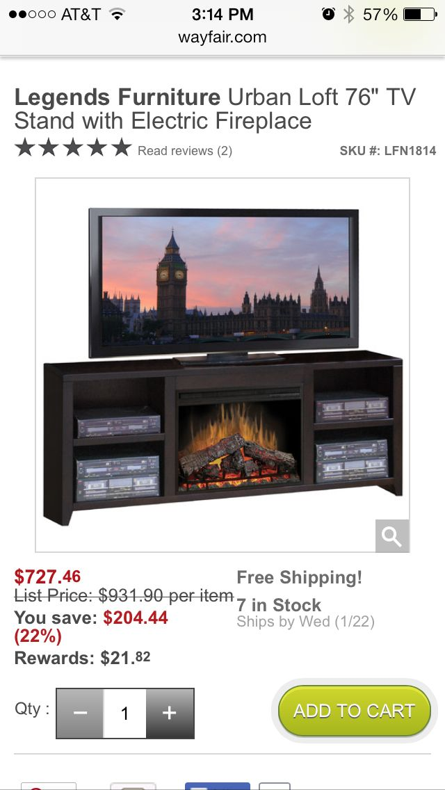 Entertainment Center With Fireplace Legends Furniture Urban Loft Electric Fireplace Tv Stand