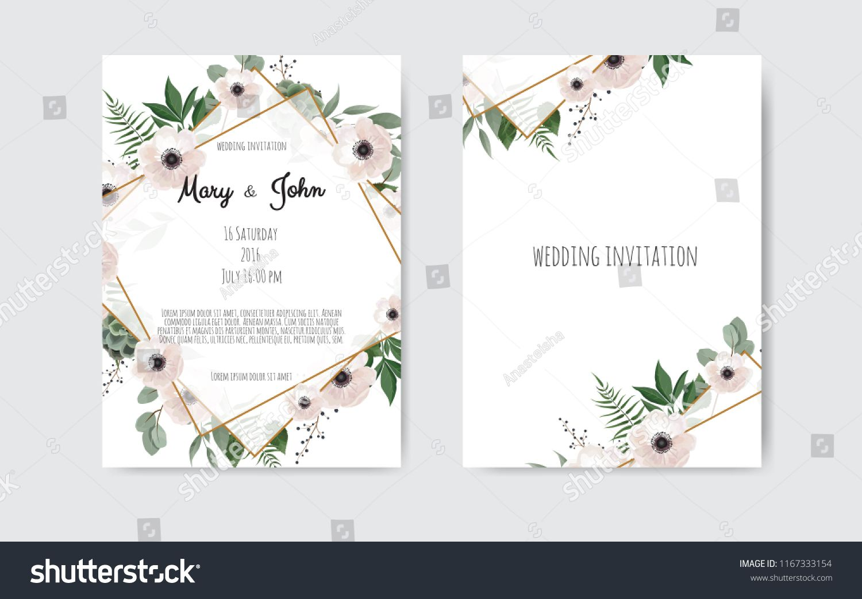 Wedding Invite Invitation Botanical Wedding Invitation Card Template Botanical Wedding Invitations Wedding Invitation Card Template Wedding Invitation Cards