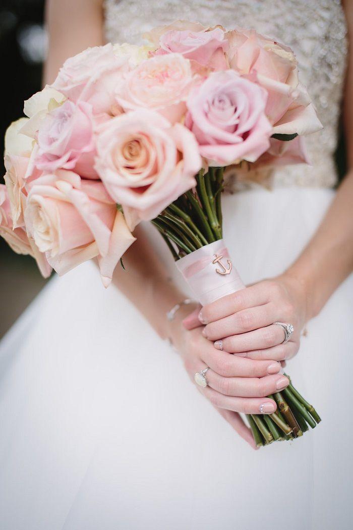 Blush roses bridal bouquet   fabmood.com #roses #bouquet