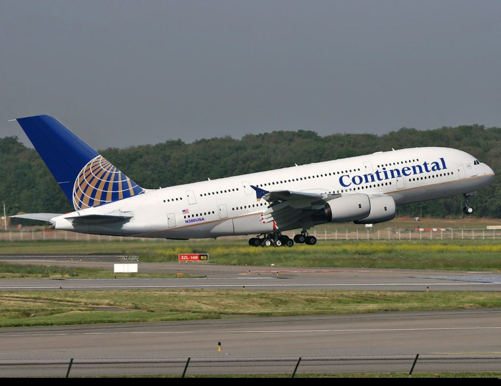 A380 Airlines Continental Airlines Not Real Airbus A380 Continental Airlines Aviation