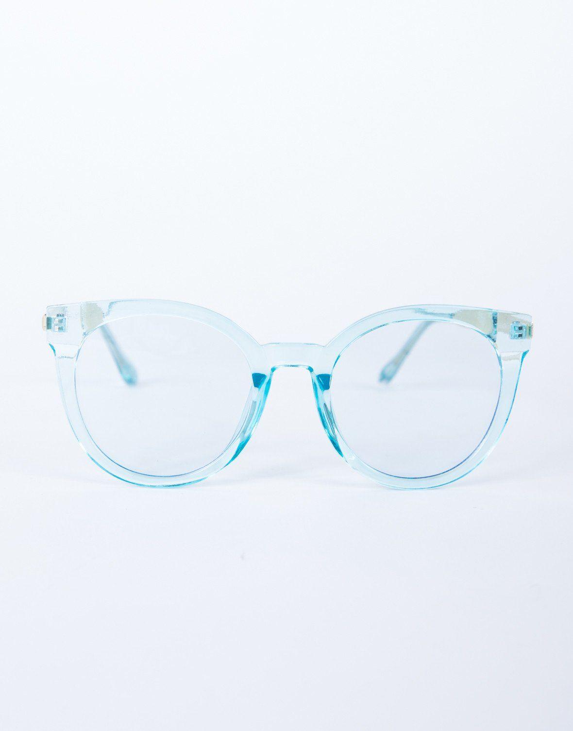 Colored Frame Transparent Glasses Retro Eyeglasses Glasses Retro Glasses