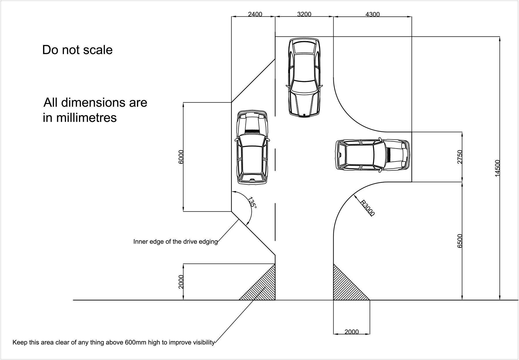Driveway Turning Radius For Cars Driveway design