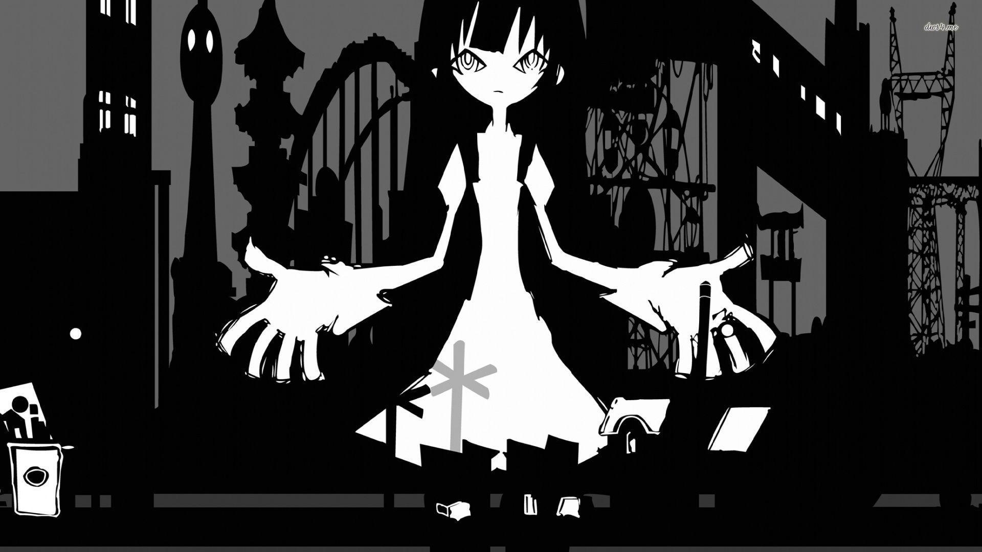 Dark Hitagi Senjougahara Bakemonogatari Hd Wallpaper Cool Anime Wallpapers Anime Wallpaper Wallpaper