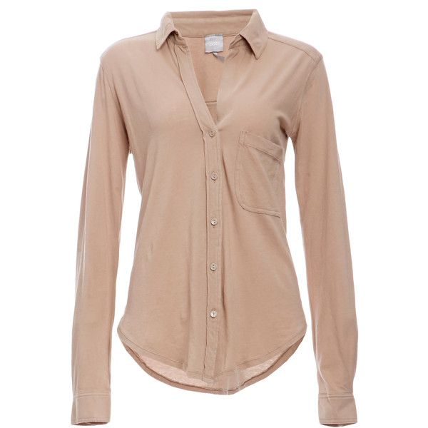 BOBI Cotton Button Down Shirt (89,740 KRW) ❤ liked on Polyvore ...