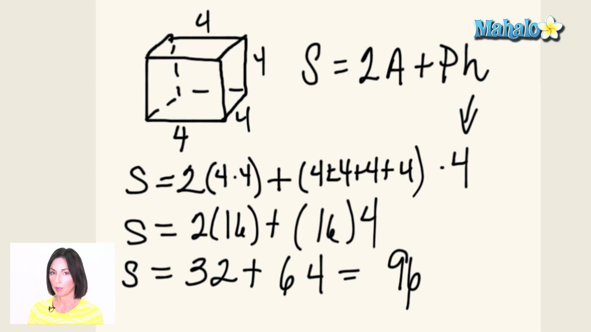 How to find the surface area of a cube surface area of a