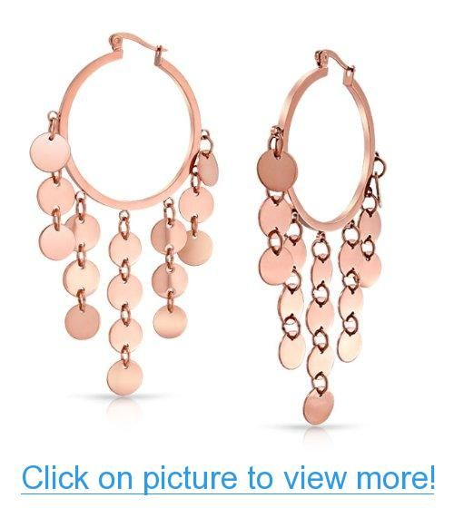 Valentines Day Gifts Bling Jewelry Chandelier Rose Gold Plated