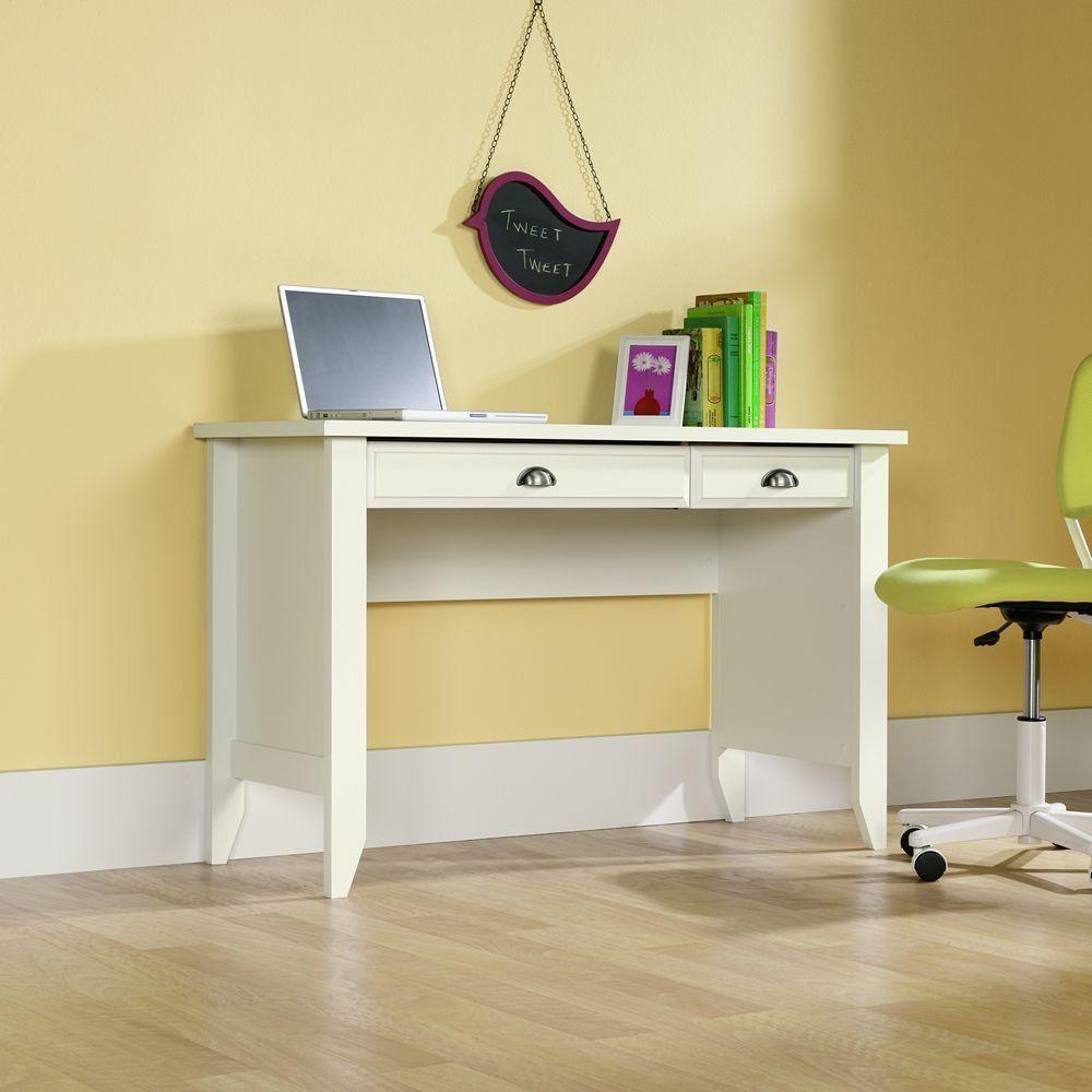 Sauder Shoal Creek Computer Desk Soft White Finish White Desks White Computer Desk Desk