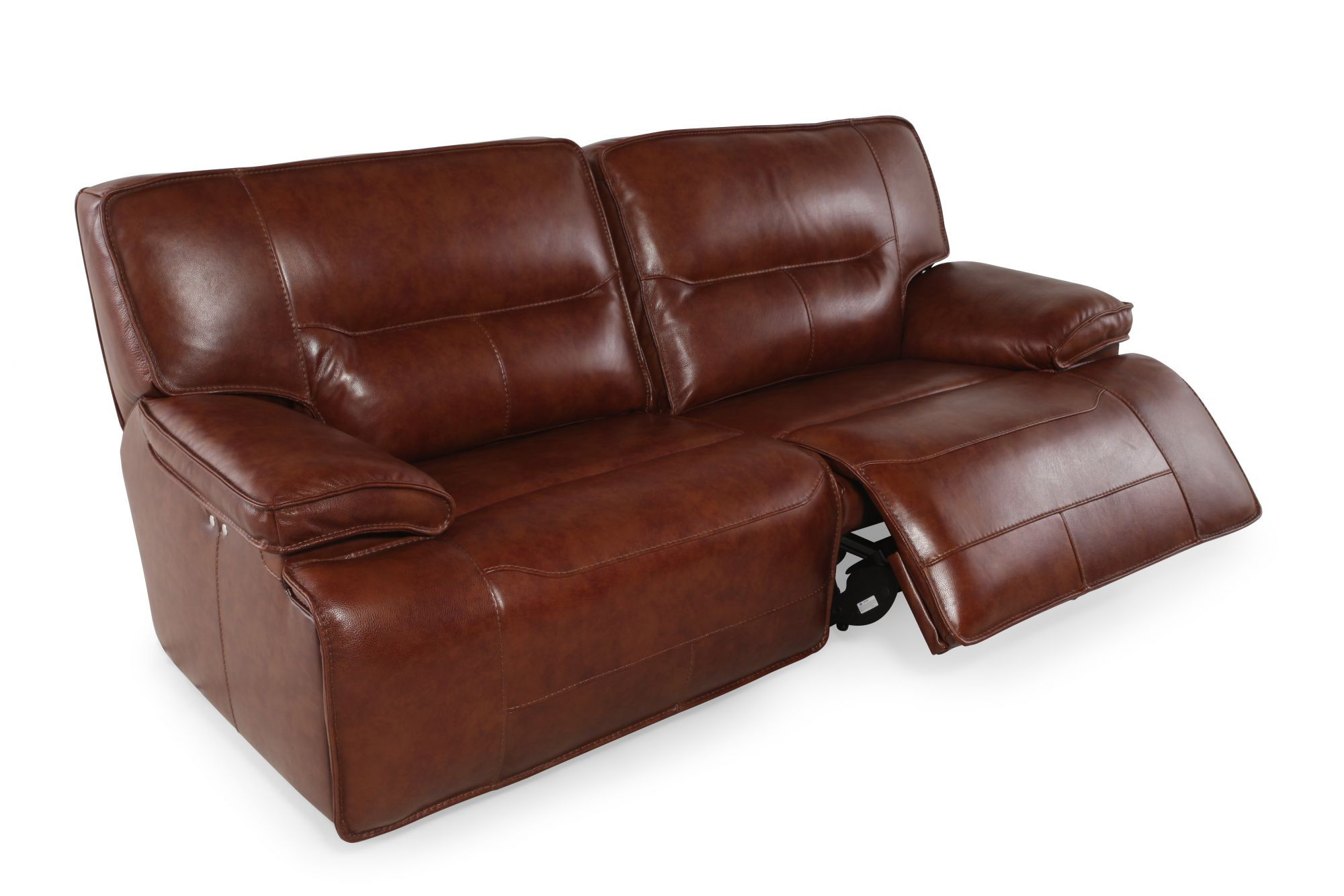 Attrayant Simon Li Stampede Chestnut Power Reclining Sofa | Mathis Brothers Furniture