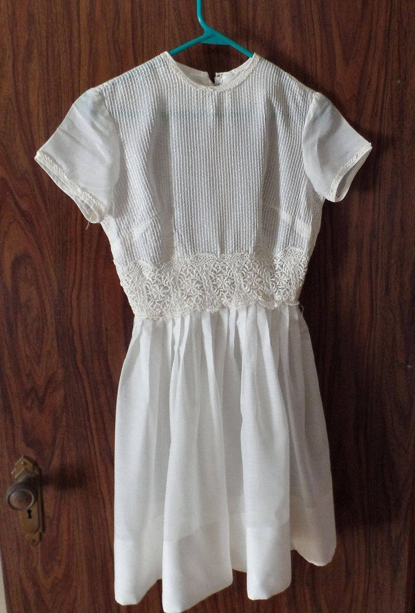 First Communion Dress With Matching Slip Little Duchess Slip Girls White Dress Confirmation Dress Con In 2020 Girls White Dress Confirmation Dresses Church Dresses