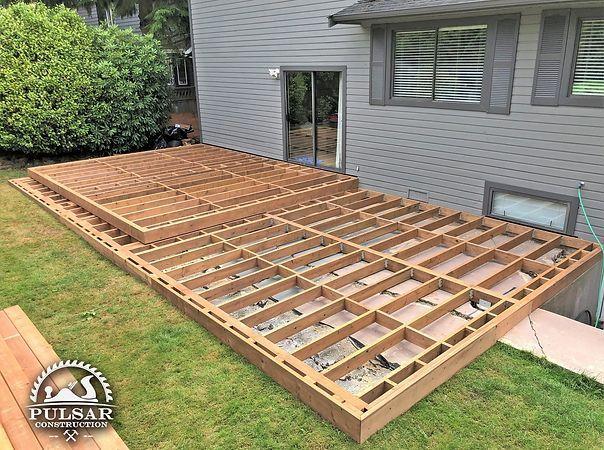 Deck Builder Pulsar Construction In 2020 Small Backyard Decks Patio Deck Designs Building A Deck