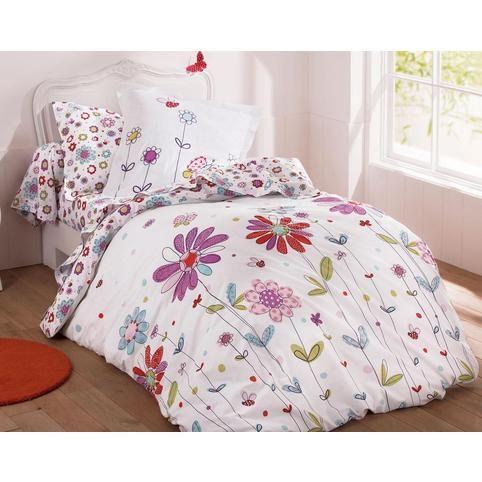 housse de couette fleurs et papillons imprim vue 1 lit agathe pinterest. Black Bedroom Furniture Sets. Home Design Ideas