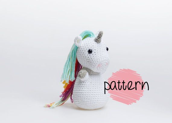 Unicorn Amigurumi Crochet Pattern Unicorn Patterns Unicorn Diy