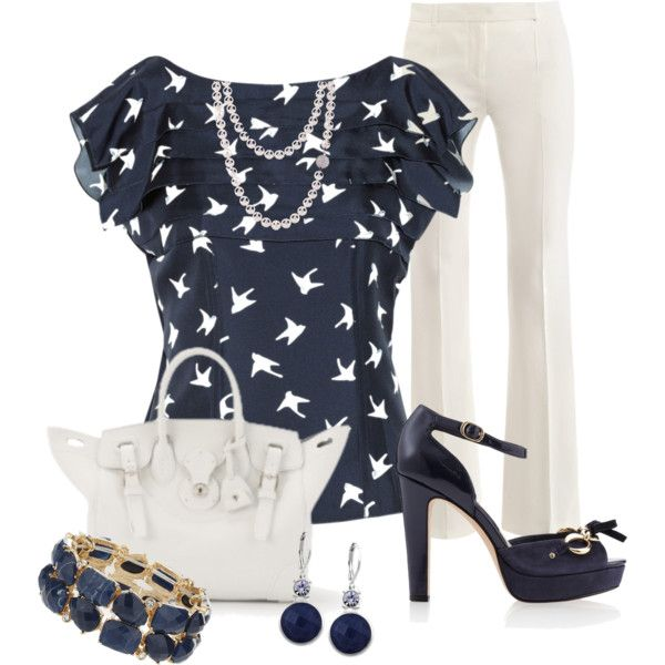 """""""Navy & White"""" by justbeccuz on Polyvore"""