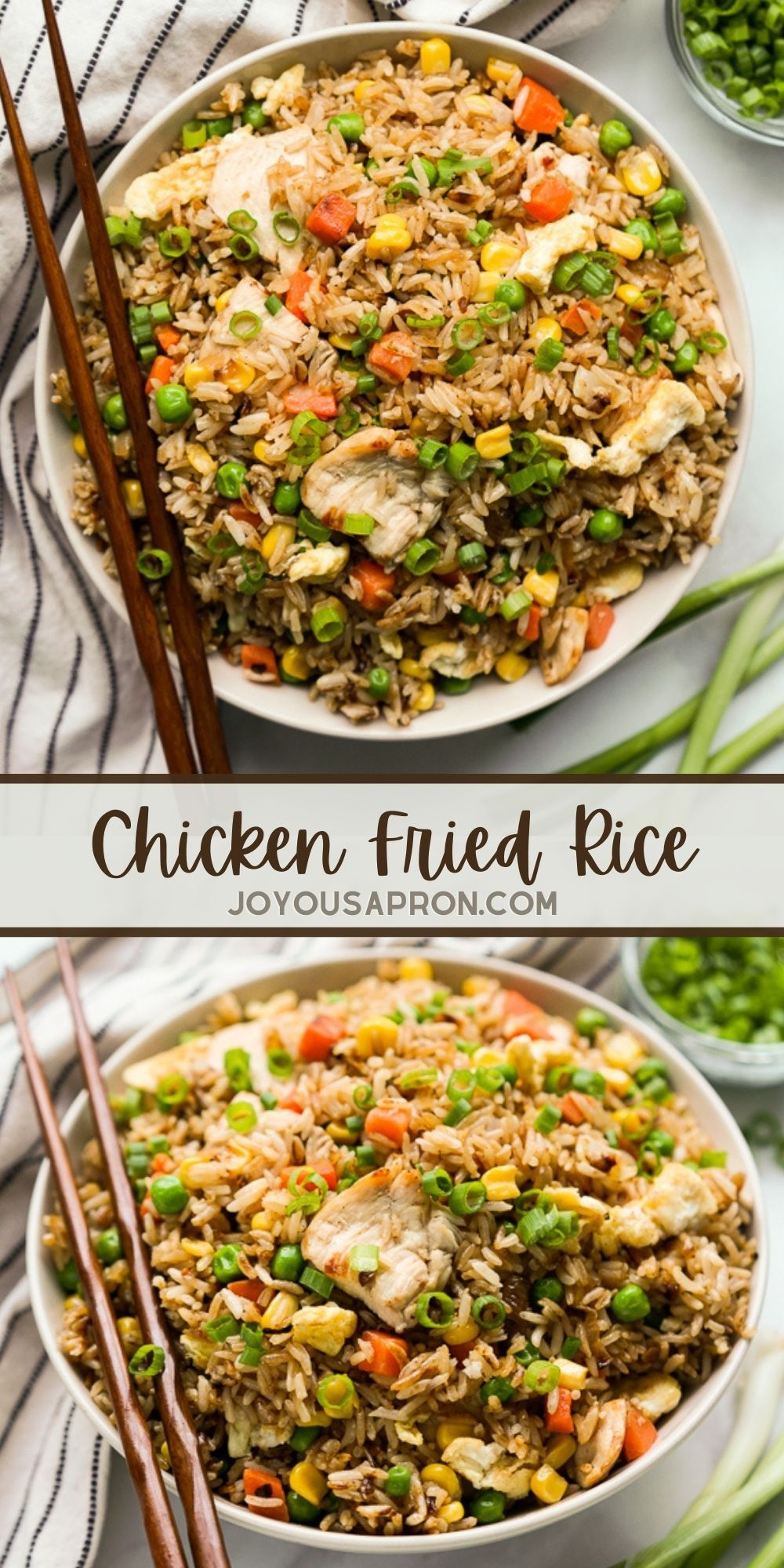 Easy Chicken Fried Rice The Best Fried Rice Recipe Joyous Apron Recipe In 2021 Chicken Fried Rice Easy Fried Rice Chicken Fried Rice