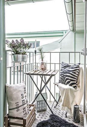 33 Ideen wie Sie den kleinen Balkon gestalten können | Pinterest ...