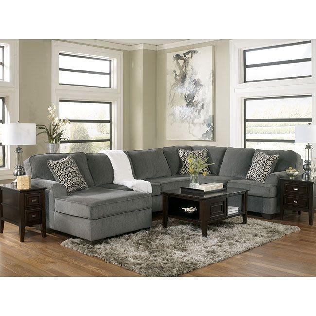 Loric Smoke Modular Sectional Ashley Furniture Furniture Modular Sectional