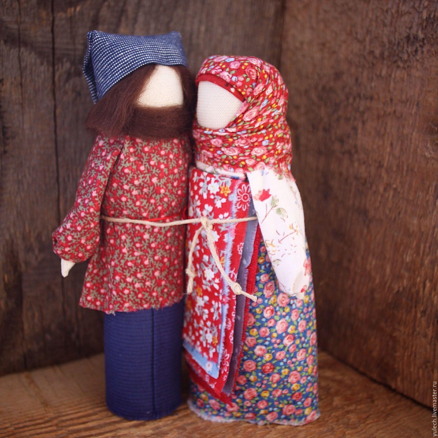 """Купить Куколки -неразлучники народные Русские """"Напоминание о Рае"""" - комбинированный, неразлучники, народная кукла, дом"""