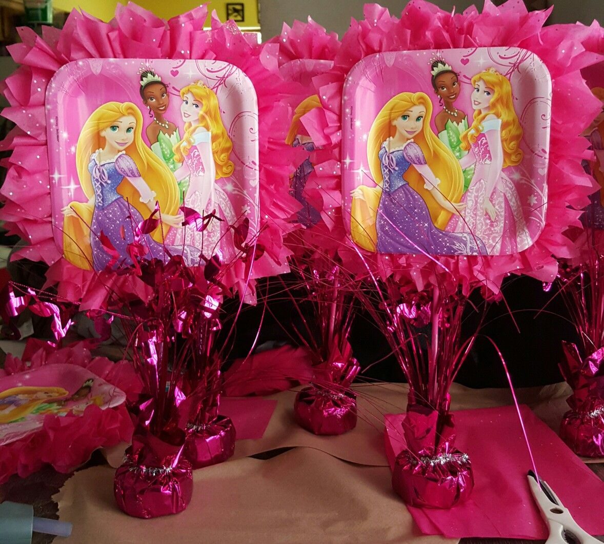 fascinating Diy Princess Party Decoration Ideas Part - 13: DIY Princess Centerpieces Princess Birthday Centerpieces, Disney Princess  Birthday Party, Princess Party Decorations,