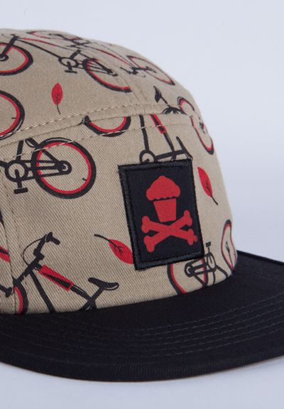 b4acee78ae076 Bicycle (Tan) 5 Panel Hat  johnnycupcakes  bicycle  5panel  fashion   illustration  art  Typography  packagedesign  usa  bakery  baking  cooking   pastry ...