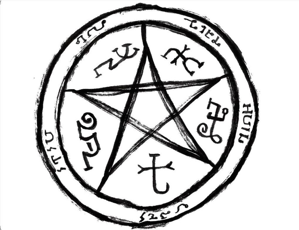 This Symbol Is The Devils Trap A Common Symbol Used By
