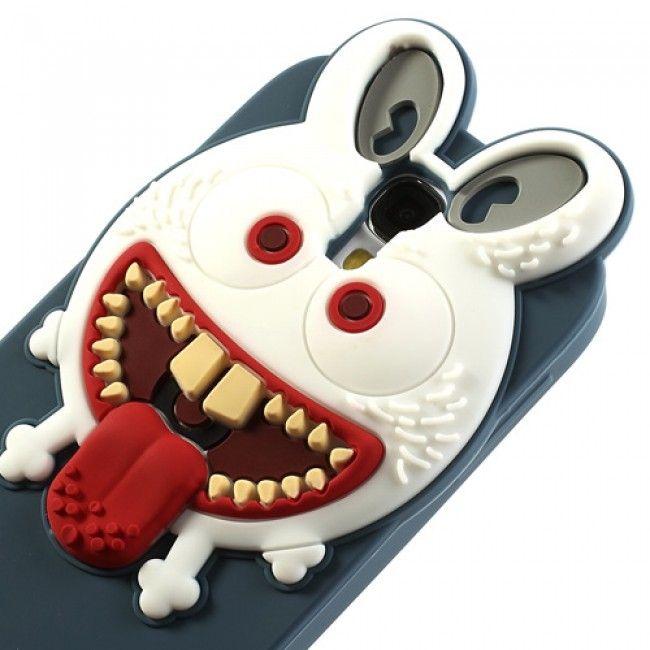 Monster (Tummansininen) Samsung Galaxy S4 3D Silikoni Suojakuori