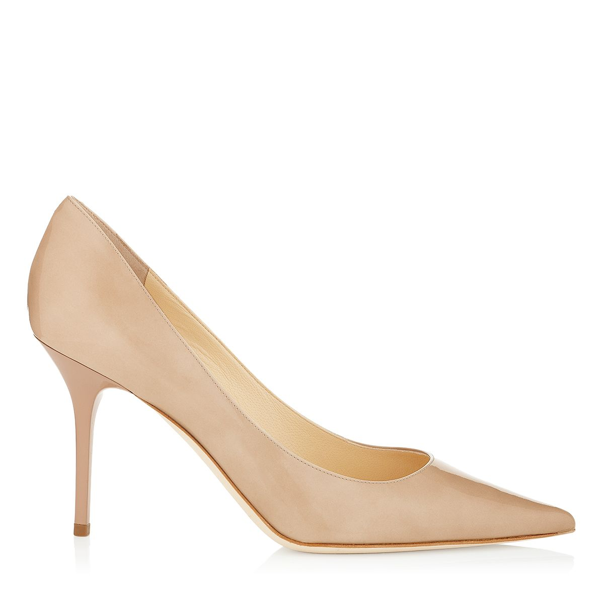 Agnes Nude Patent Pointy Toe Stiletto Pumps Jimmy Choo