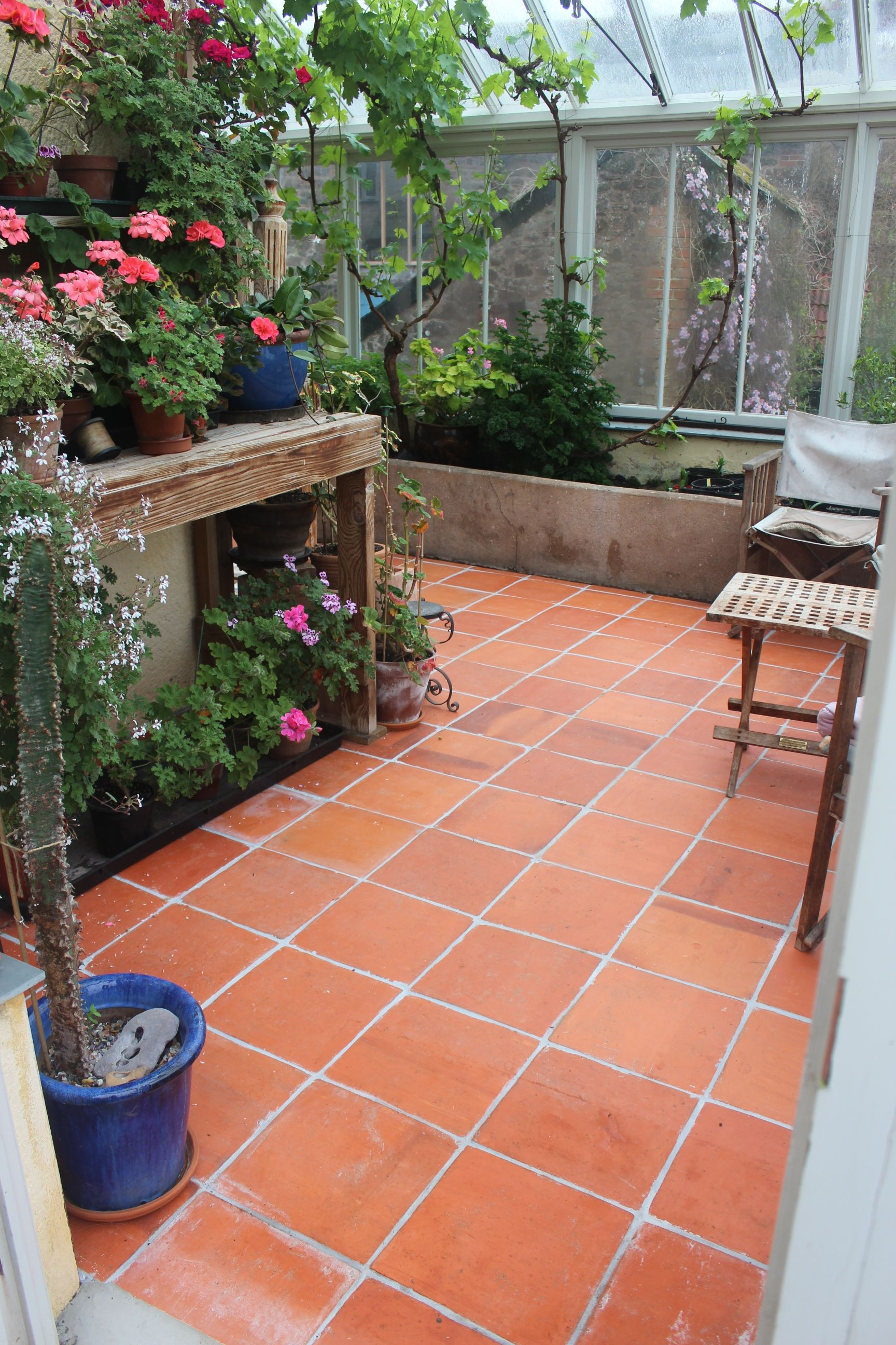 Rich Vibrant Terracotta Tiles Porch And Outdoors Patio