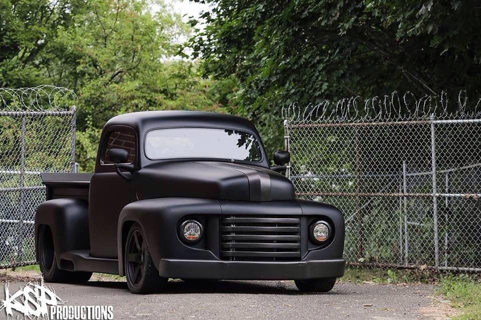 Jet Black Ford Pickup 1948 Ford Pickup Vintage Trucks