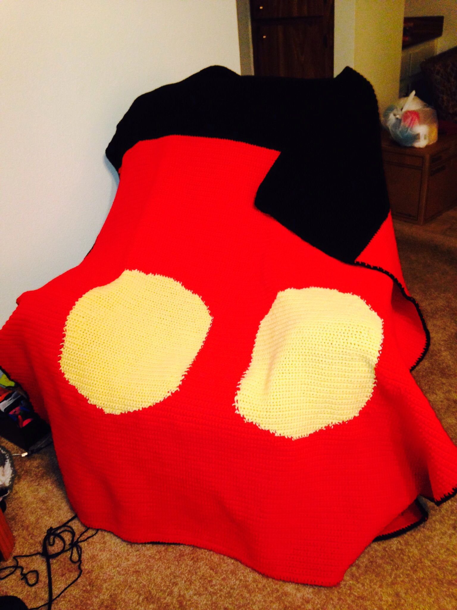 Mickey Mouse Crochet Blanket Pattern Joy Studio Design