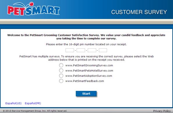 Petsmart Grooming Customer Survey Customer Survey Petsmart