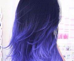 Purple blue ombre