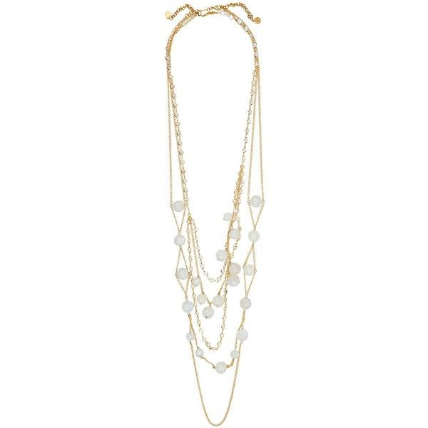 ISHARYA Serpent Orb layered gold-plated necklace (490 CAD) ❤ liked on Polyvore featuring jewelry, necklaces, lobster clasp charms, layered necklace, gold plated necklace, multi row necklace and gold plated jewellery