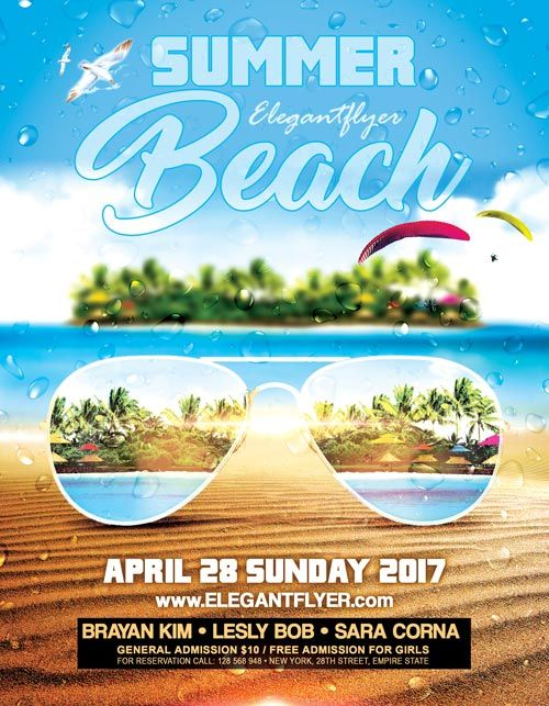 Summer Beach Party Event Psd Flyer Template  HttpFreepsdflyer