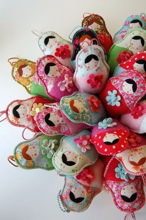 Russian felt dolls via Alpenstrasse