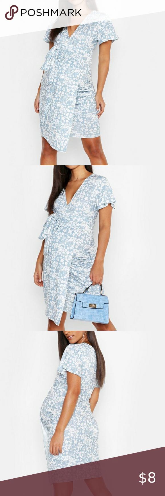 Photo of [ boohoo ] vestido de abrigo floral para maternidad, pero puede ser usado por cualquier persona :) muy str …