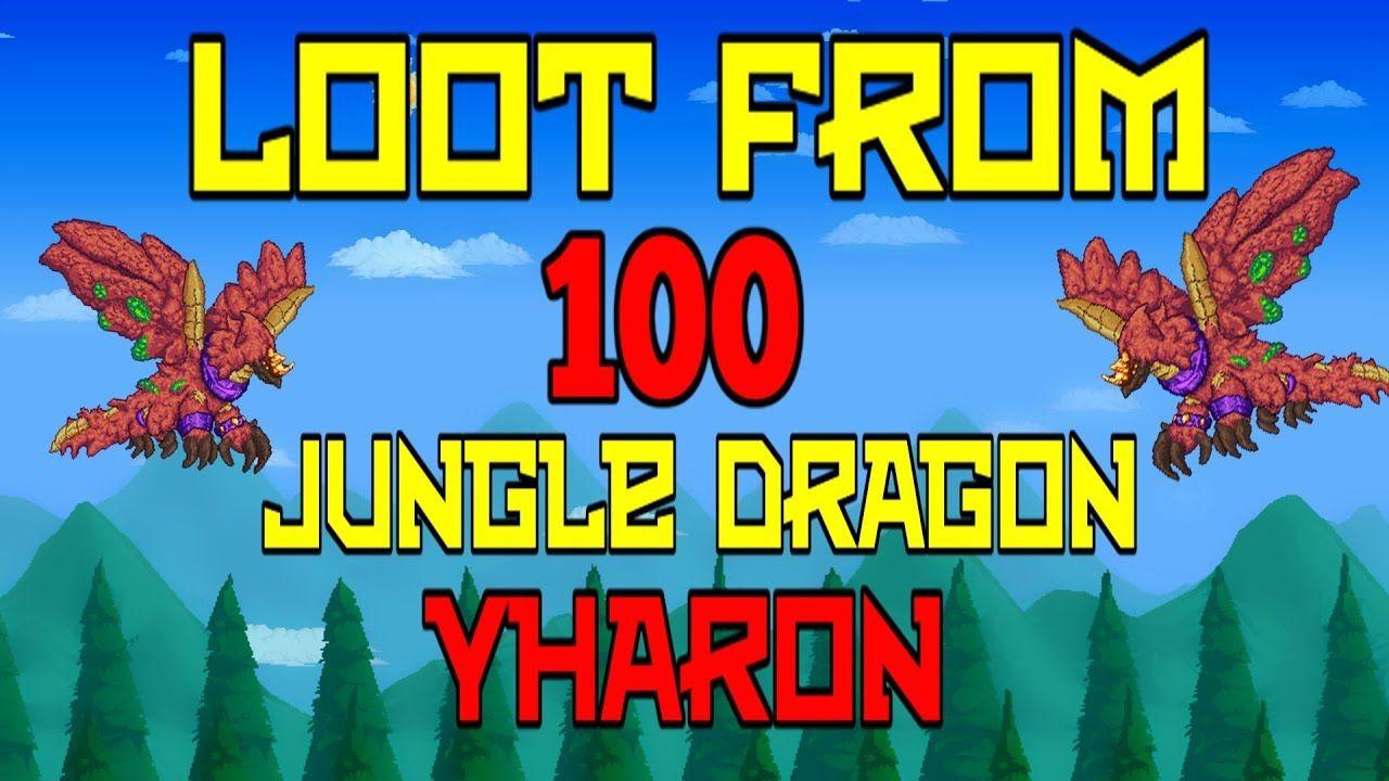 Loot From 100 Jungle Dragon Yharon Terraria Terrarium Loot The 100