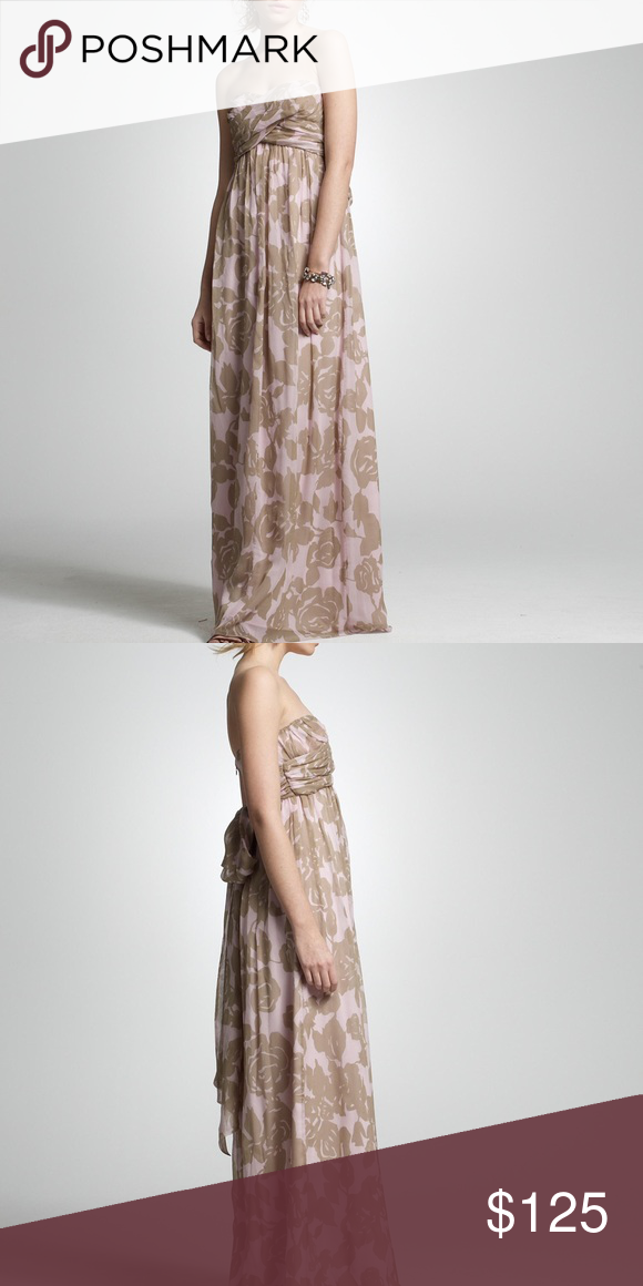 J Crew Rose Trellis Taryn Gown Size 6 100% silk, fully lined, gorgeous print, no flaws J. Crew Dresses Maxi